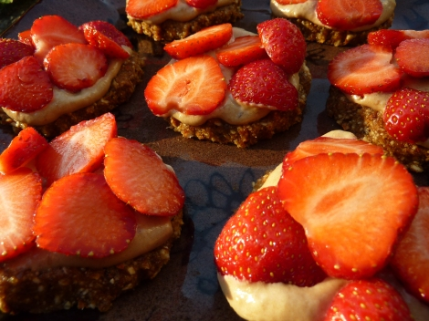 Raw Strawberry Tartlets