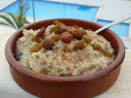 Himalayan Porridge (by the pool!)