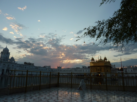 The Golden Temple at sunset