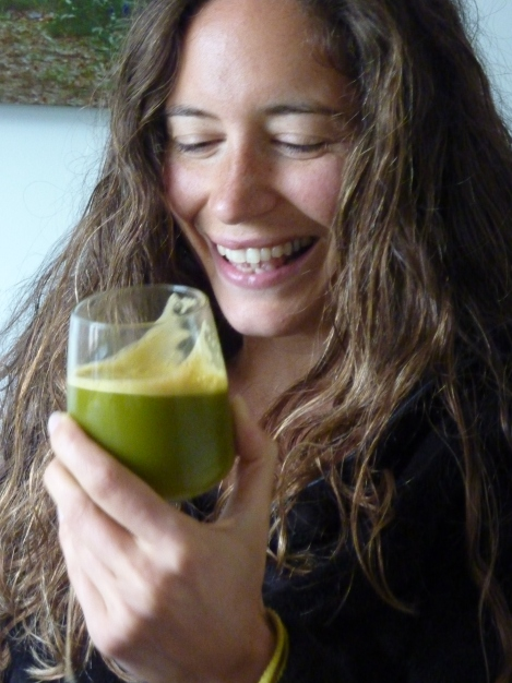 Jane loving the juice!