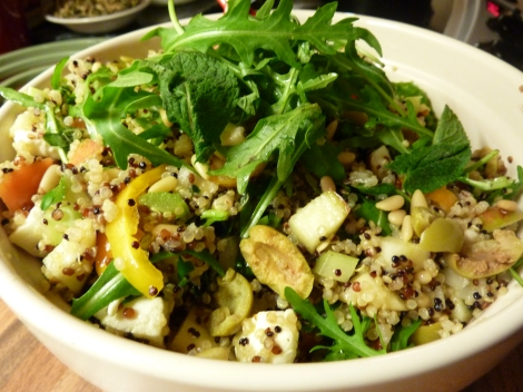 Feta and Apple Quinoa Tabouleh