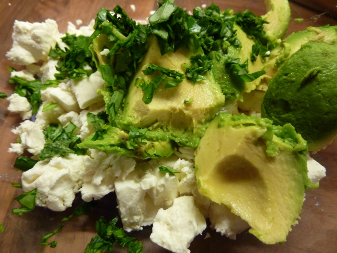 Avocado cheese in the mix
