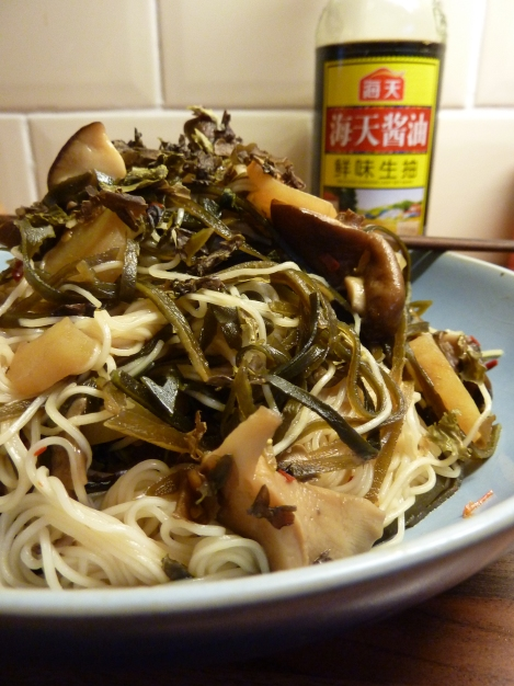 Shiitake, Sesame and Kelp Noodles