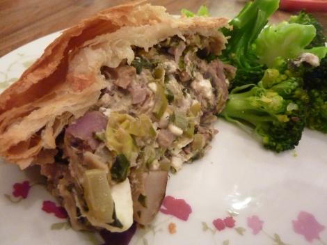 Welsh Leek, Feta and Herb Pie