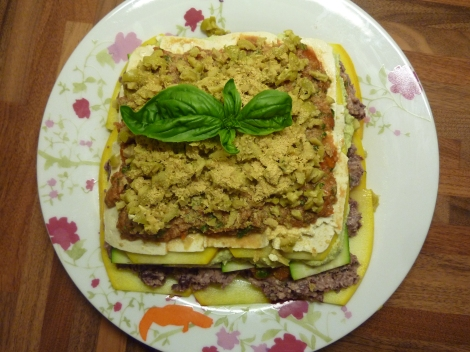 Raw Lasagne with Avocado and Lemon Ricotta (Vegan/ Gluten Free)
