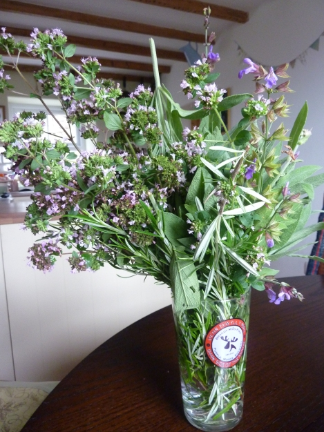 Herb garden raided - My king of bouquet (edible)