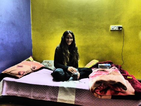 Jane, first day, first Bindi, Delhi. 1/14