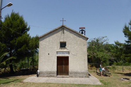 Another lunch stop, abandon churches again (always with handy fresh water springs for washing up!) - Cilento National Park, Campania