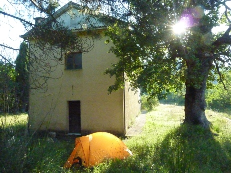 Camping by churches seemed to work well - Cilento National Park, Campania