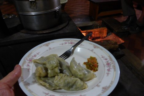 Momos a la GayBoo Homestay.  Made bt the magnicficent Nana and Gemma in Menchuka Village