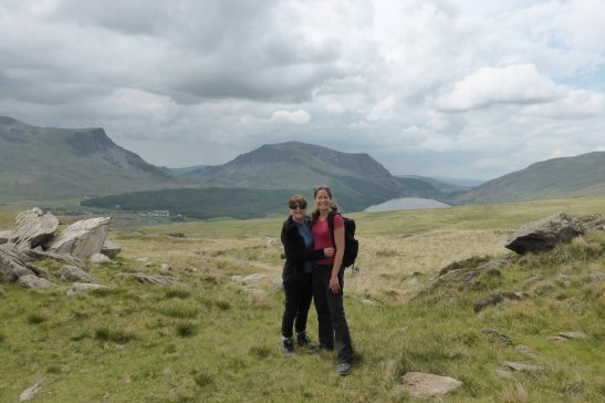 Carol (Lee's Mum) and I half way up Mount Snowdon, Wales