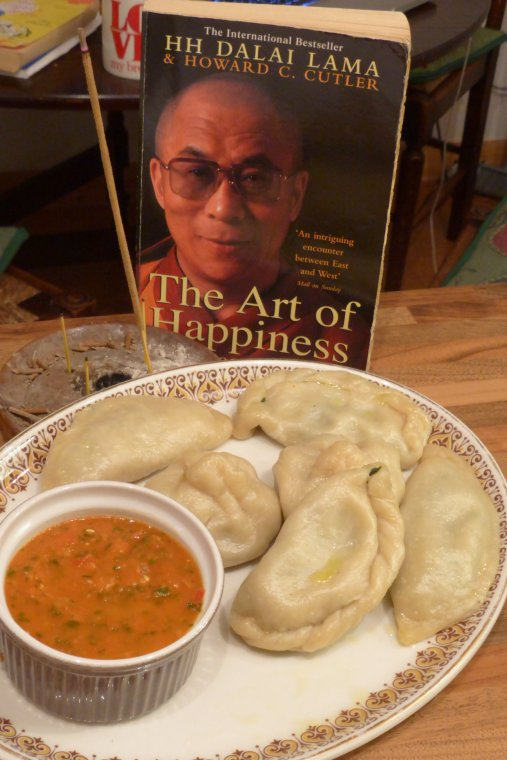 Traditional Menchuka Momos and a good read