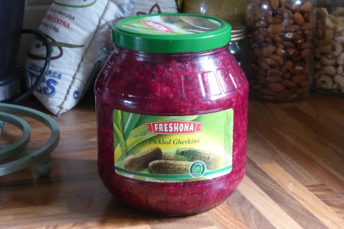 Great jar, inaccurate label.  It should read 'Beetroot, Apple and Caraway' Sauerkraut