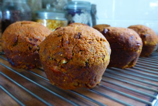 Juice Pulp Muffins with Pecan and Fig