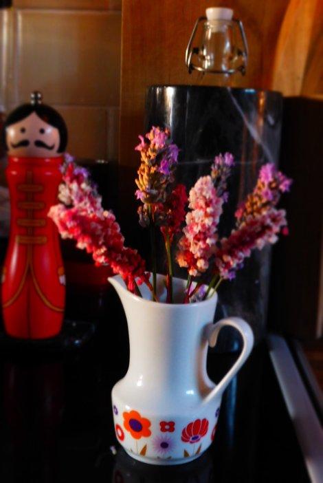 Berry foraging bonus - fresh lavender smells around the house