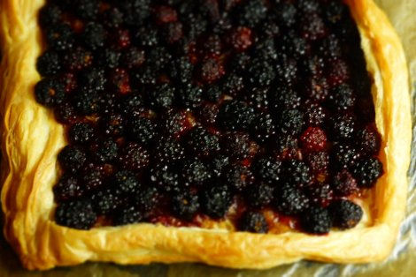 Quick Blackberry and Rowan Tart