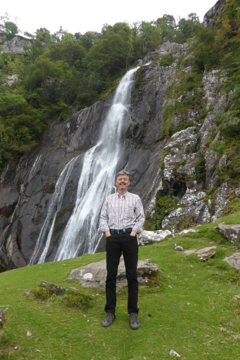 The 'Big Yin' at Aber Falls, near bangor