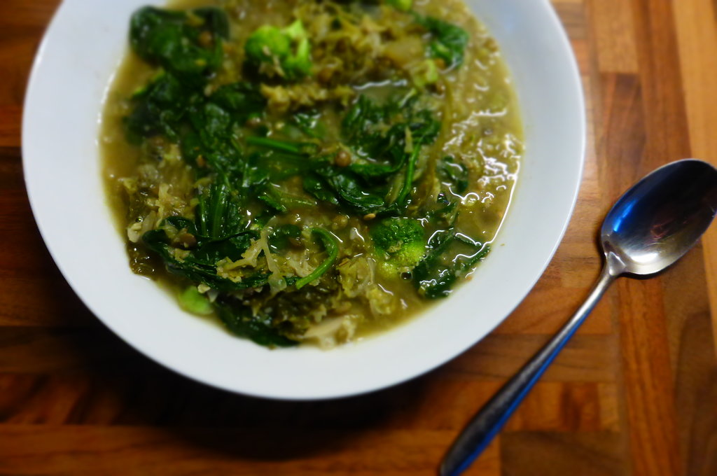 Detox Greens Soup with Welsh Miso, Ginger and Green Lentils | the ...