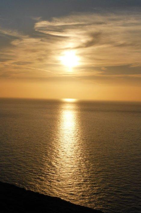 Autumn sunset off the Llyn Peninsula