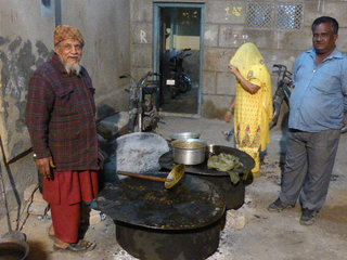 The Chef at Raja's Brides House (lovely fellow, cooking on wood fires for hundreds of hungry party goers)