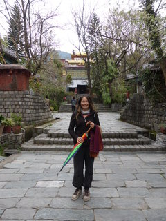 Jane in Norbulingka Palace, Dharamasala, India '15