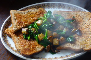 Mushroom and Spinach Hash
