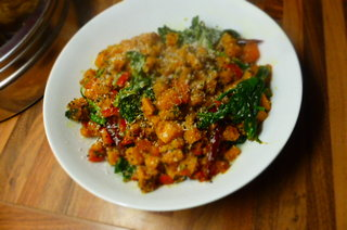 Sweet Potato and Red Pepper Thoran