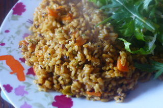 Fried Pulao - Just add a few tomatoes