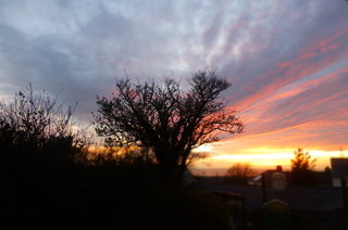 Sunset last night from the BHK window