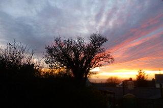 Sunset last night from the BHK window