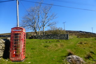 Our local phone box, looking good in the April sun