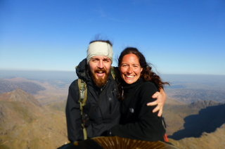Jane and I on top of Snowdon