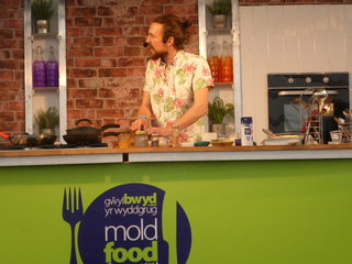 Cooking demonstration at the Mold Food Festival 2015