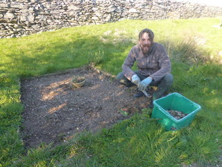 Weeding the veg patch, the seeds are in, we are going for many varieties this year.  Too ambitious?!