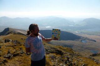The first vegan cookbook ever to climb Mount Snowdon - clever thing!