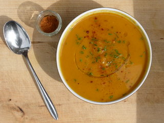 Roast Squash and Pepper Soup with Bharat
