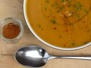 Roasted Squash and Pepper Soup with Baharat