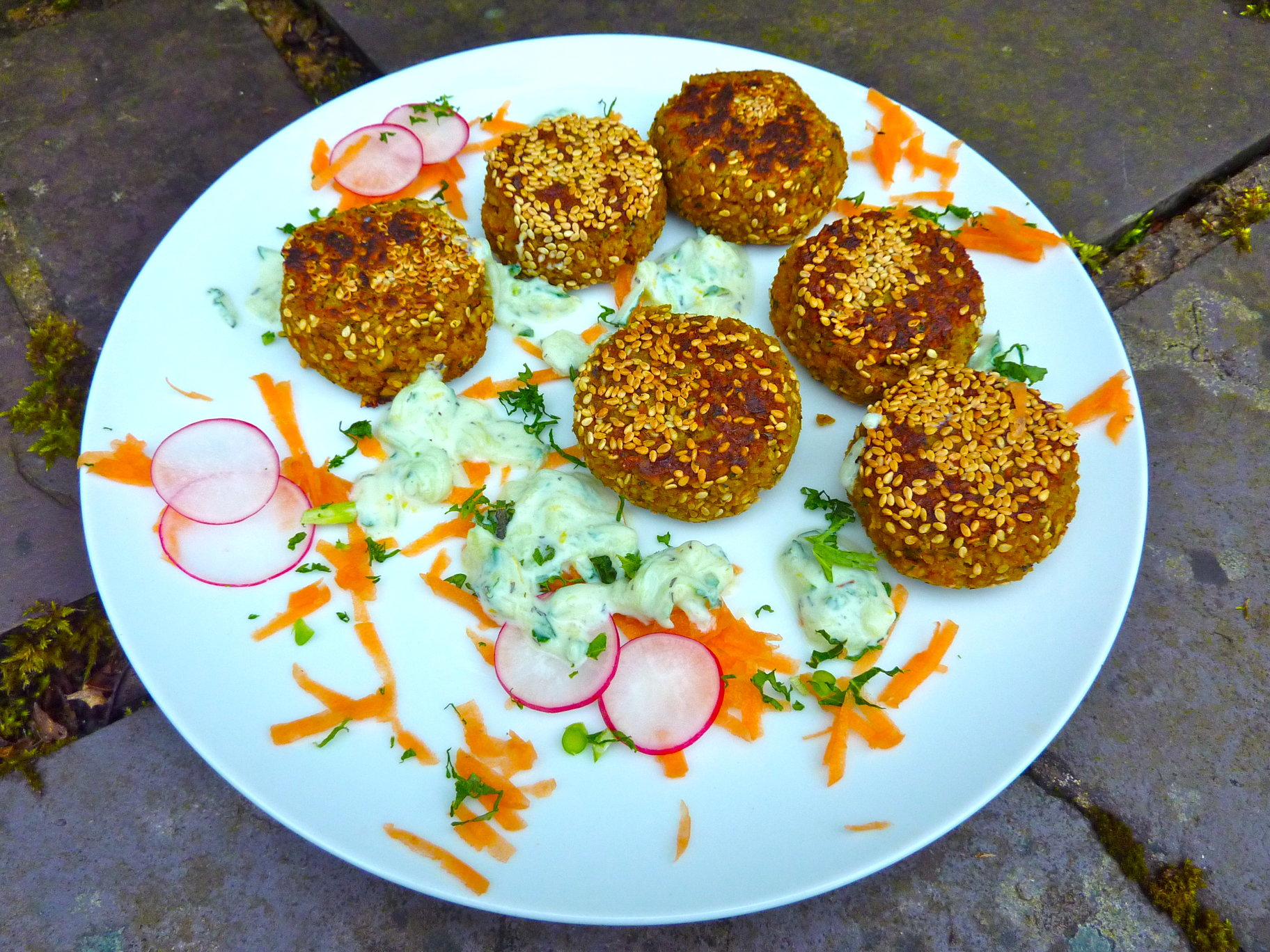 Egyptian Fava Bean Falafels with Cucumber and Lemon Yoghurt (vegan and ...