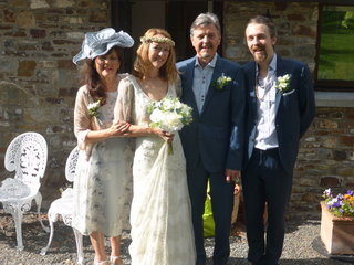 The Watson family, all smart and ready for the wedding ceremony