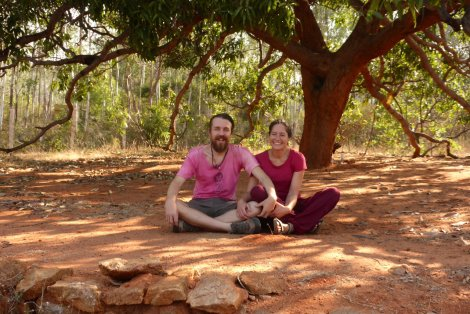 Jane and I in the Yoga Retreat, Tamil Nadu