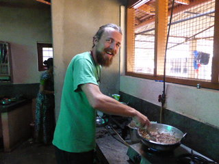 Cooking at Varnam Homestay, Kerala