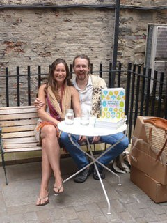 Jane and I in Durham at the weekend.  We had a book signing at Flat White Cafe.