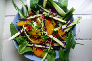 Bok Choi, Orange and Sesame Salad - A proper summer zinger! #vegan