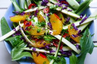 Bok Choi, Orange and Sesame Salad