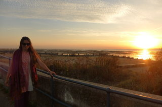 Jane at sunset near The Old Neptune Pub, Whistable