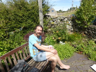 Catching a few rare sun rays in the herb garden aka the sun trap