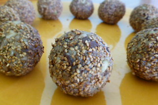 Nutty Apricot and Sesame Energy Balls