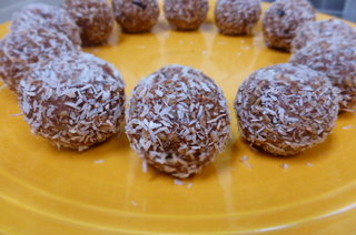 Chocolate and Coconut Energy Balls