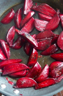 Nicely caramelised beetroots in Aronia berry vinegar - the smell was sensational!