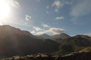 Snowdon yesterday looking stunning in the September sun